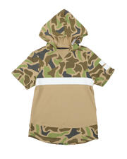 Tops - Camo Color Block Hooded Tee (8-20)-2574876