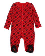 One Pieces - AOP Script Footed Coverall (0-9Mo)-2575053