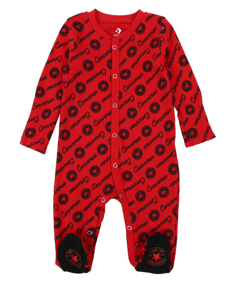 Converse - AOP Script Footed Coverall (0-9Mo)