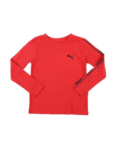 Puma - No. 1 Logo Pack Long Sleeve Heathered Tee (4-7)