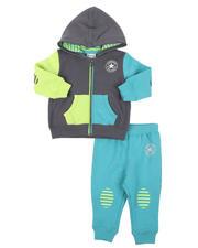 Converse - 2 Pc Grippy Stripe Full Zip Hoodie & Jogger Pants Set (Infant)-2575095