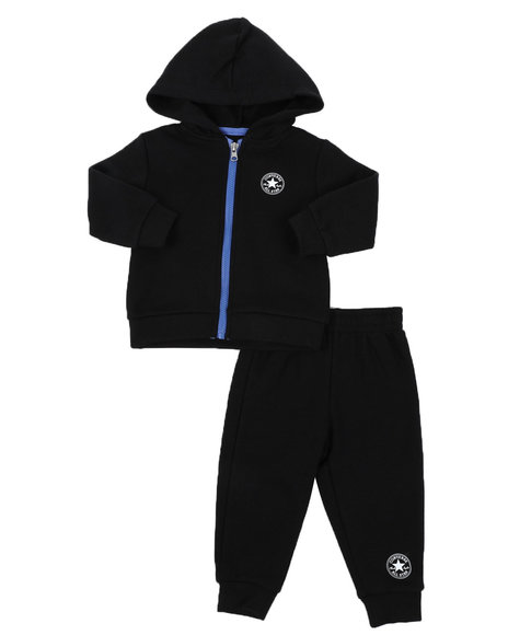 Converse - 2 Pc Out of This World Fleece Full Zip Hoodie & Jogger Pants Set (Infant)