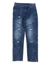 Boys - Washed Moto Jeans (8-16)-2576959