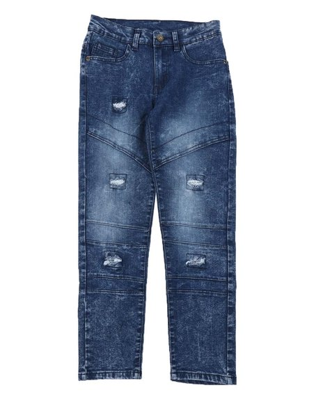 Arcade Styles - Washed Moto Jeans (8-16)