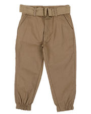 Pants - Belted Twill Jogger Pants (2T-4T)-2576574