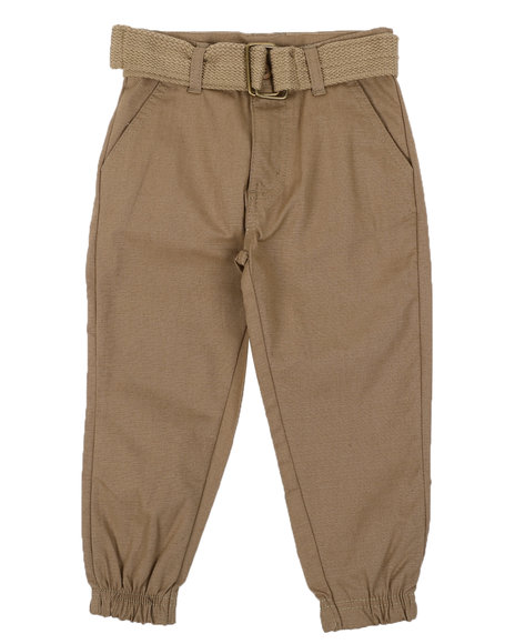 Arcade Styles - Belted Twill Jogger Pants (2T-4T)