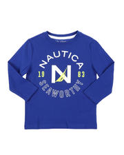 Nautica - Signature Stamp Long Sleeve Graphic Tee (2T-4T)-2575796