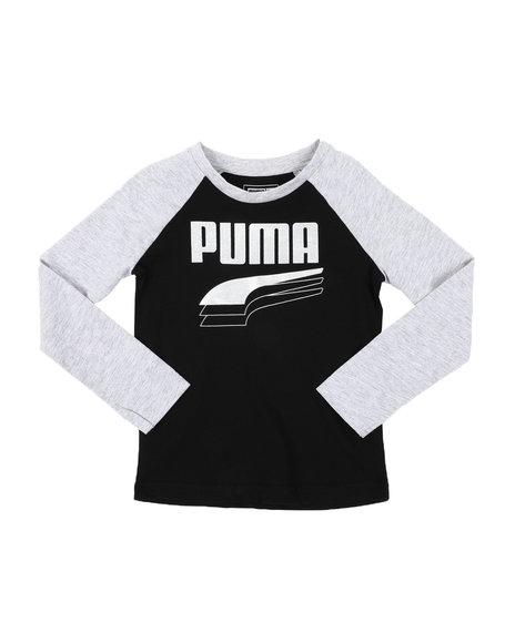 Puma - Rebel Bold Pack Long Sleeve Raglan Tee (4-7)