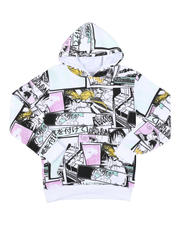 Hoodies - Comic Print Pullover Hoodie (8-18)-2575830