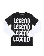 Arcade Styles - Legend Repeat Long Sleeve Tee (8-20)-2575840