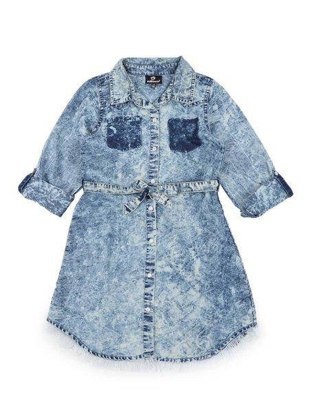 Dollhouse - Bleach Splatter 3/4 Sleeve Denim Dress (7-16)