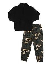 Sets - 2 Pc Half Zip Sweater & Twill Jogger Pants Set (2T-4T)-2577157