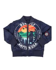 Heavy Coats - Born Fly NYtown USA Padded Bomber Jacket (2T-4T)-2578157