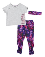 Delia's Girl - 3 Pc Love Tee, Tie Dye Leggings & Headband Set (2T-4T)-2577030