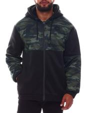 Light Jackets - Sherpa Full Zip Colorblock Hoodie (B&T)-2577755