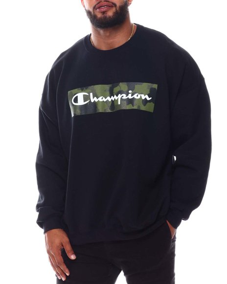 Champion - Camo Box Logo Crewneck Sweatshirt (B&T)