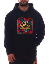 Big & Tall Faves - Blurred Roses Pullover Hoodie (B&T)-2577754