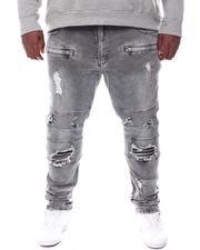 Big & Tall Faves - Shredded Biker Jeans (B&T)-2578003