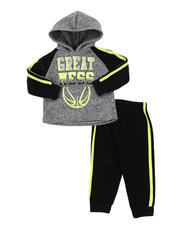 Infant & Newborn - 2 Pc Great Color Block Pullover Hoodie & Solid Jogger Pants Set (Infant)-2577623