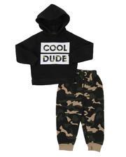 Infant & Newborn - 2 Pc Cool Dude Pullover Hoodie & Camo Jogger Pants Set (Infant)-2577639