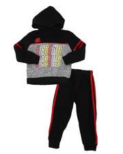 Sets - 2 Pc Legend Repeat Graphic Fleece Pullover Hoodie & Jogger Pants Set (2T-4T)-2577676
