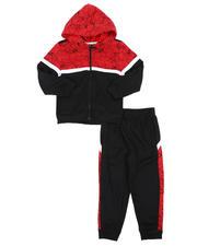 Sets - 2 Pc Color Block Zip Up Hoodie & Jogger Pants Set (4-7)-2577797