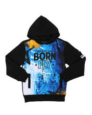 Hoodies - Graphic Fleece Hoodie W/ Cargo Pocket Sleeve (8-20)-2578181