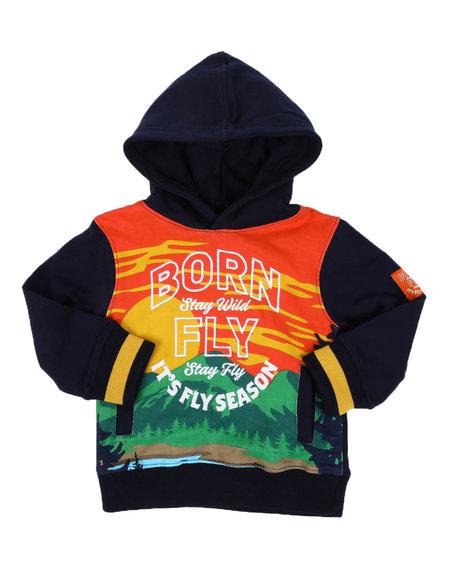 Born Fly - Fly Season Fleece Pullover Hoodie (2T-4T)