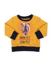 Born Fly - Stay Fly Fleece Crew Neck Pullover (2T-4T)-2578200