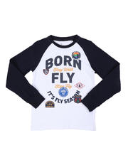 Born Fly - Fly Season Long Sleeve Raglan Graphic Tee (8-20)-2578218
