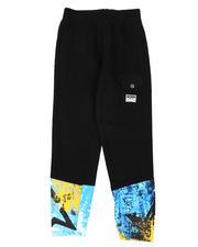 Sweatpants - Printed Leg Fleece Jogger Pants (8-20)-2578242