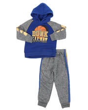 Sets - 2 Pc Dunk All Day Fleece Pullover Hoodie & Jogger Pants Set (2T-4T)-2577764
