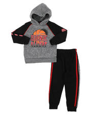Sets - 2 Pc Dunk All Day Fleece Pullover Hoodie & Jogger Pants Set (2T-4T)-2577768