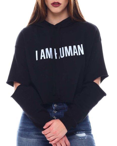 COOL - I am Human Crop Sweatshirt
