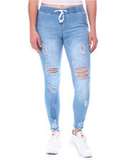 Fashion Lab - Exposed Button  Frayed Fly High Rise Jeans-2575555