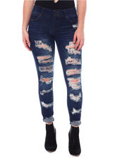 Fashion Lab - Distressed 5 Pockets Jeans-2578836