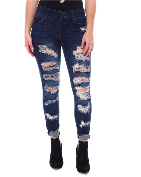 Fashion Lab - Distressed 5 Pockets Jeans