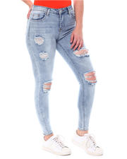 Fashion Lab - Distressed High Waist Jeans-2578905