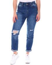 Women - Paper Bag Waist Jeans W/Destruction-2579117