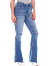 Bottoms - Hi Rise Knee Slit Flare W/Fray Hem-2579193