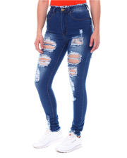 Jeans - High Waist Ripped Jeans-2579679