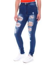 Bottoms - High Waist Ripped Jeans-2579679