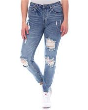 Bottoms - High Waist Distressed Jeans-2578791