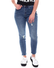 Straight - High Waist 5 Pocket Jeans-2578812