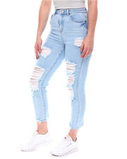 Jeans - Distressed High Waist Jeans-2579724