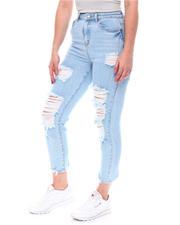 Bottoms - Distressed High Waist Jeans-2579724