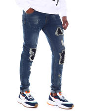 Fall-Winter - Distressed Jean w Black Patches-2580264