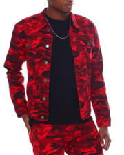 Denim Jackets - Camo Print Twill Jacket-2580228