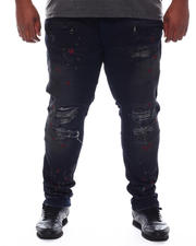 Big & Tall Faves - Shredded Biker Jeans (B&T)-2579467