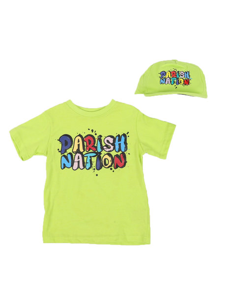 Parish - 2 Pc Parish Nation Rubber Print T-Shirt & Cap Set (2T-4T)